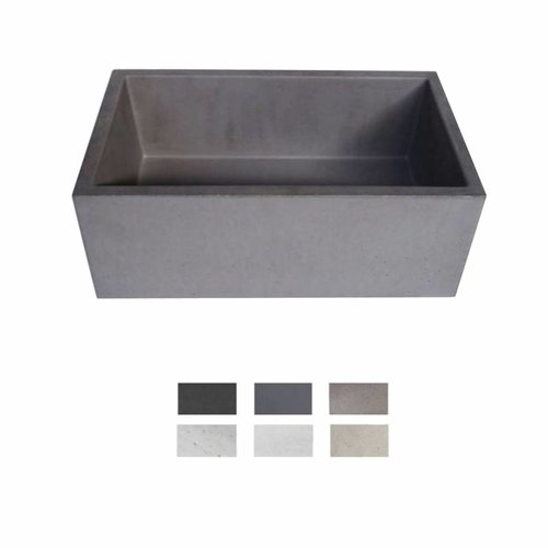 Opzet Wastafel  Immissio Beton 45x26x18 cm ( 6 Kleuren)