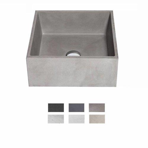 Opzet Wastafel  Immissio Beton 39x39x16 cm ( 6 Kleuren)