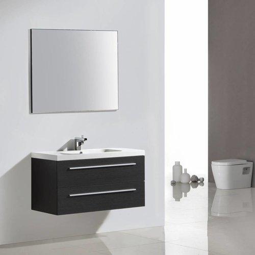 Badkamermeubelset Sanilux Aktie met Spiegel en Wastafel 100x50 cm Antraciet