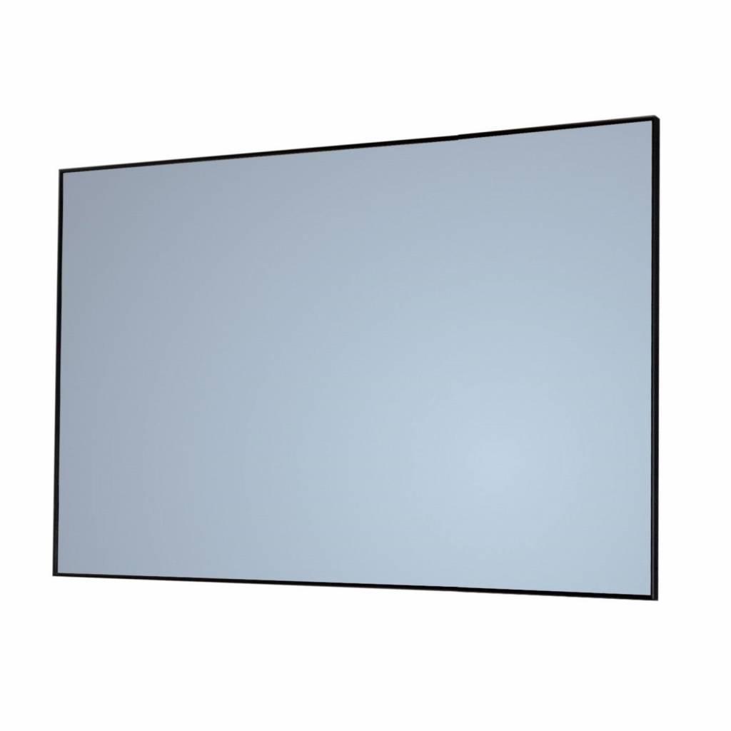 Badkamerspiegel Sanicare Q-Mirrors 70x70x2 cm Zwart Sanicare