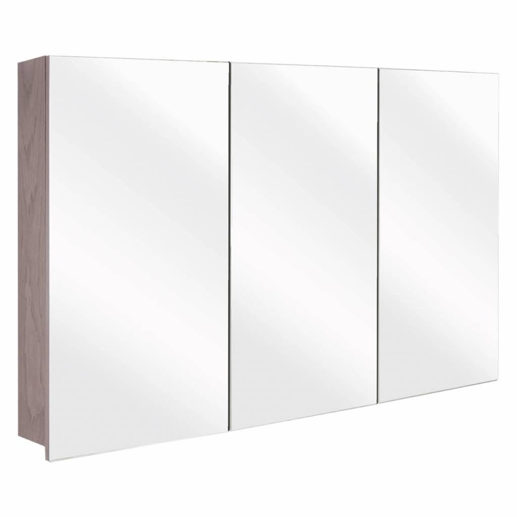 badkamer spiegelkast Differnz The Collection Concept 100x62x15 cm Grijs Differnz