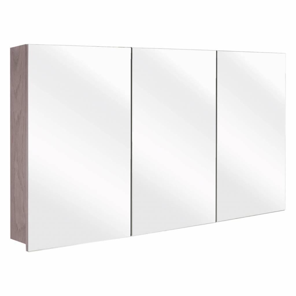 badkamer spiegelkast Differnz The Collection Concept 120x62x15 cm Grijs Differnz