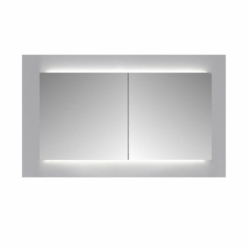 Spiegelkast Sanicare Qlassics Ambiance 80 cm 2 Deuren Alu-Look
