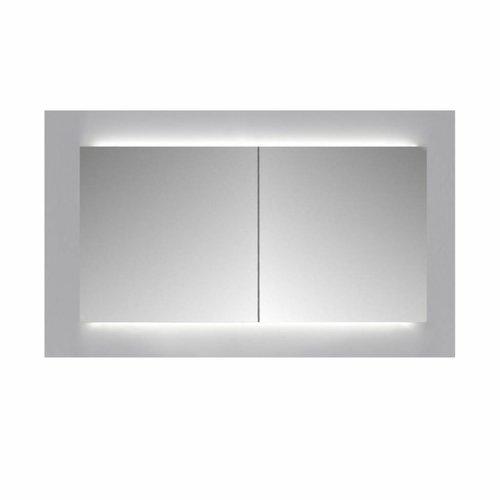 Spiegelkast Sanicare Qlassics Ambiance 120 cm 2 Deuren Zijdeglans Wit