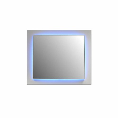 Badkamerspiegel Sanicare Q-Mirrors Ambiance LED-verlichting Rondom Met Afstandsbediening 70x90x3,5 cm Zwarte Omlijsting