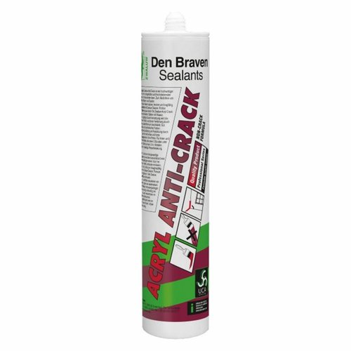 Den Braven Zwaluw acryl anti-crack 310ml koker wit