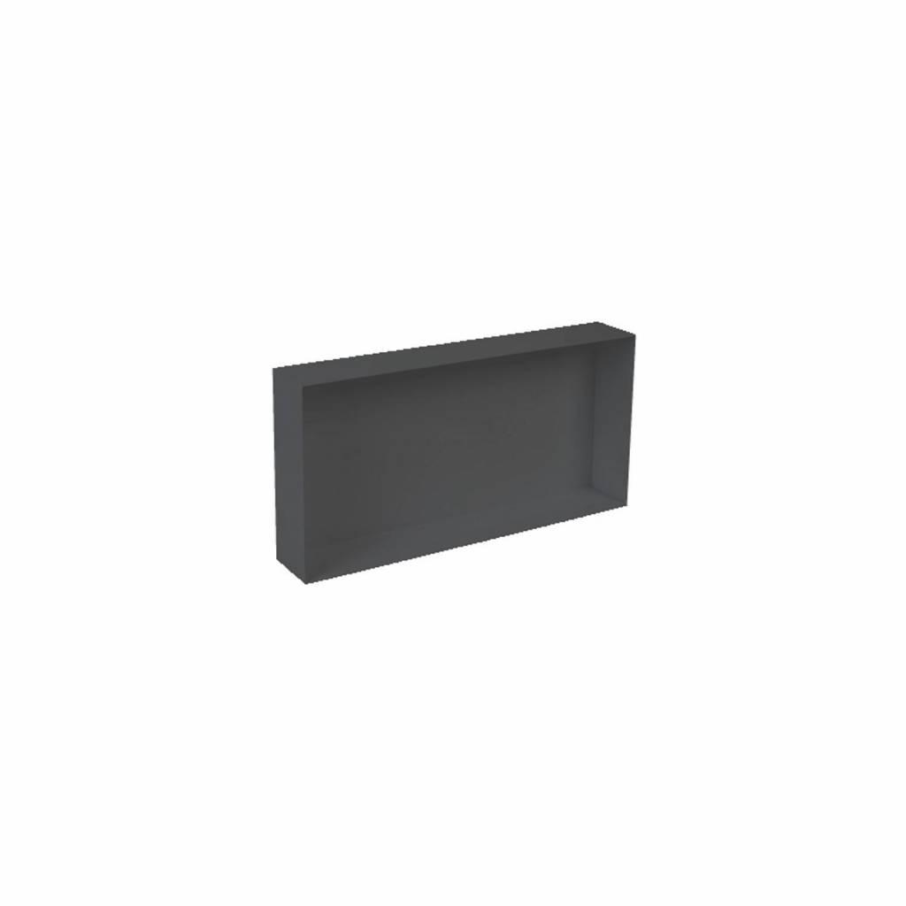 Inbouwnis Plieger Waterproof Voor In Wand 30x60 cm RVS Mat Zwart (zonder flens)