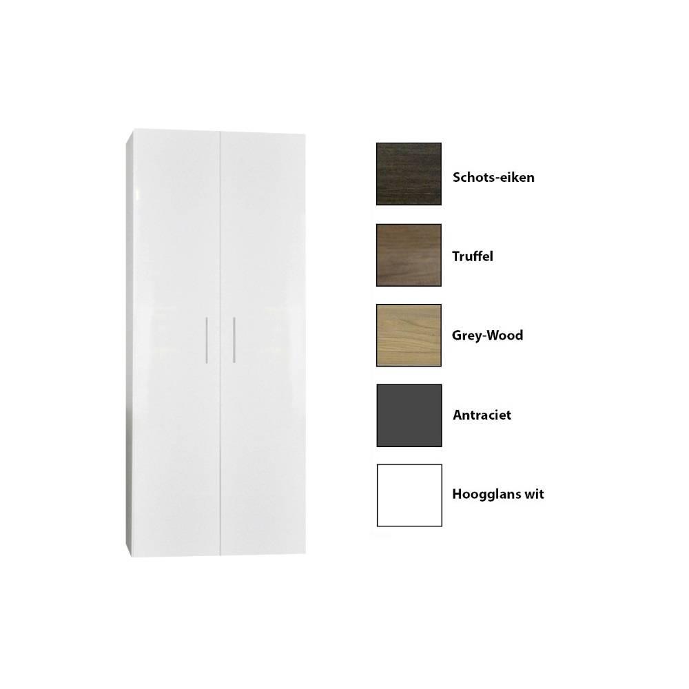 badkamer kolomkast Sanicare Q15 2-Deurs Soft-Closing 160x67x32 cm Grey-Wood Sanicare