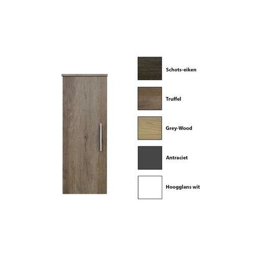 Kolomkast Sanicare Q15 1 Soft-Closing Deur 90x33,5x32 cm Grey-Wood