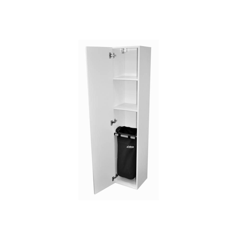 badkamer kolomkast Sanicare Q1/Q4/Q12 Soft-Closing Deur Met Chromen Greep Inclusief Waszak 160x33,5x32 cm Antraciet Sanicare