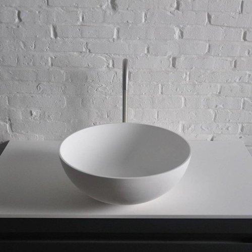 Opbouwwastafel Ideavit Solidthin 39x39x14.5 cm Solid Surface Mat Wit