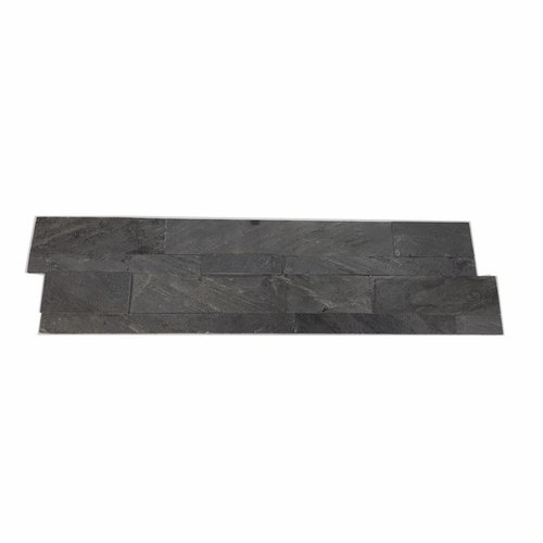 Steenstrips Natuursteen Look Rockwall Hong Kong Metal Nero 60x15cm (Doosinhoud 0.90 m2)