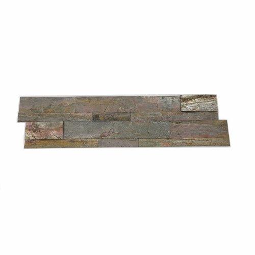 Steenstrips Natuursteen Look Rockwall Rome Mystique 60x15cm (Doosinhoud 0.90 m2)