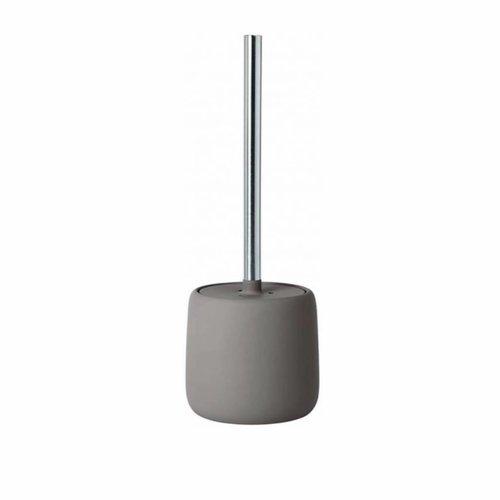 Toiletborstelhouder Blomus Sono Met Deksel 39cm Taupe