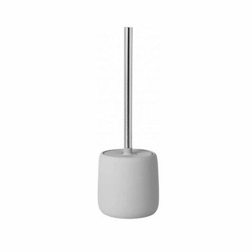 Toiletborstelhouder Blomus Sono Met Deksel 39cm Lichtgrijs
