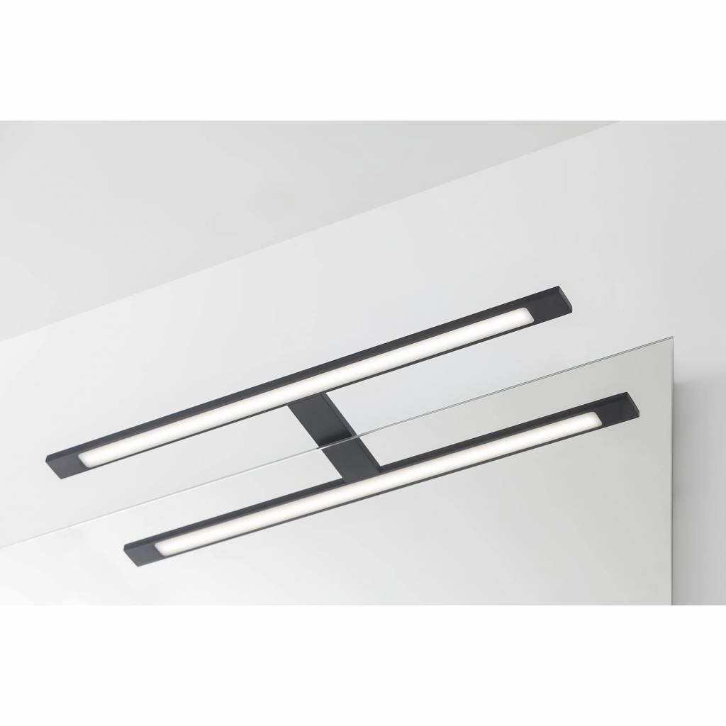 Spiegel Verlichting Tiger Ancis LED 4000K 60x4x10.5 cm Mat Zwart ...