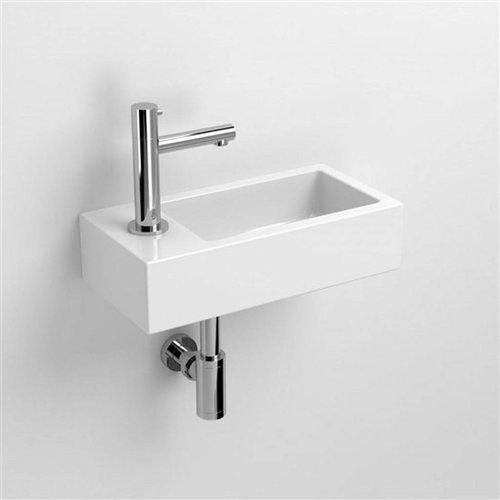 Fontein Clou Flush 3 36x18x9cm Keramiek Glans Wit (Met Kraangat Links)