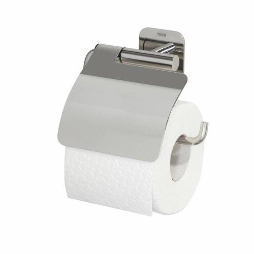 Toiletrolhouder met Klep Tiger Colar RVS Gepolijst