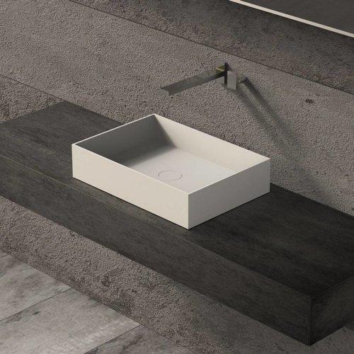 Opbouw Waskom Ideavit Solidjoy 50x35x11 cm Solid Surface Mat Wit