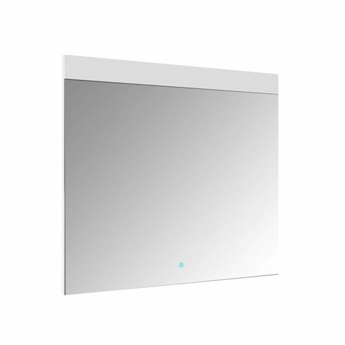 Spiegel Allibert Rei LED Verlichting Bovenzijde 80x70cm Aluminium Rand
