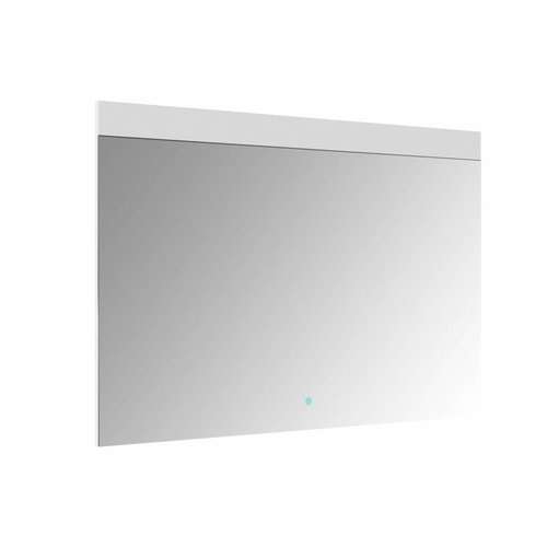 Spiegel Allibert Rei LED Verlichting Bovenzijde 90x70cm Aluminium Rand