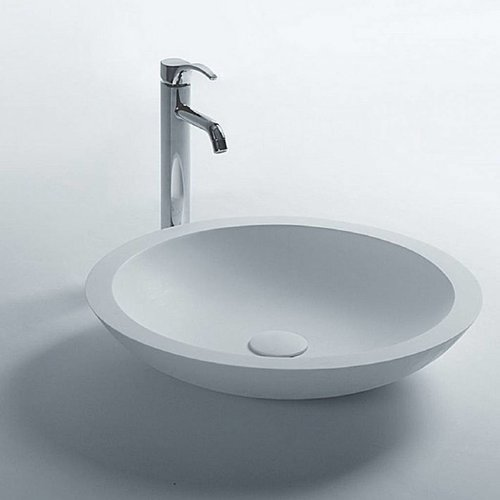 Opbouw Waskom Ideavit Solidtrend 51,5x10,5 cm Solid Surface Mat Wit
