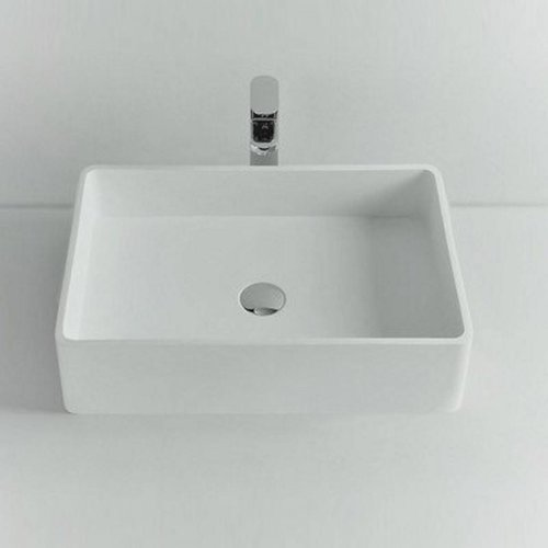 Opbouw Waskom Ideavit Solidtop 60x40x15 cm Solid Surface Mat Wit