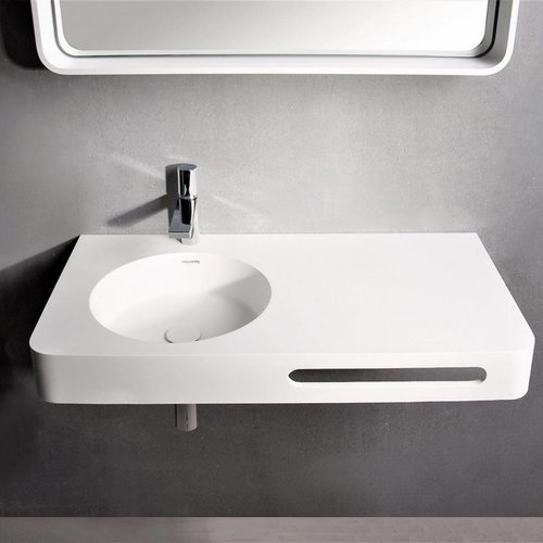 Fontein Ideavit Solidbrio 90x48x14 cm Solid Surface Mat Wit