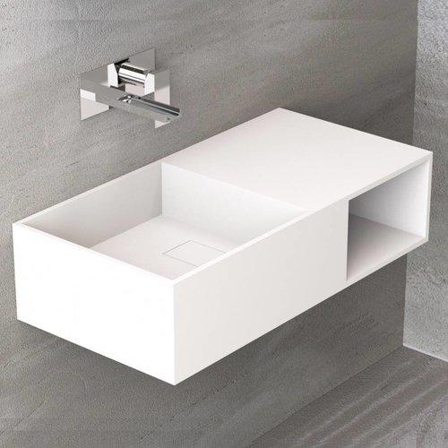 Wastafel Ideavit Solidplan 80x40x20 cm Solid Surface Mat Wit