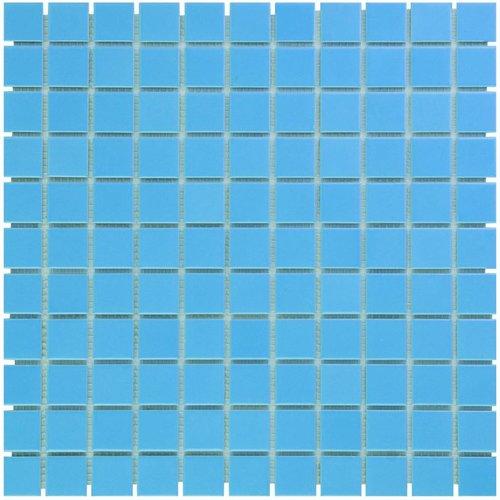 Mozaïektegel The Mosaic Factory Barcelona 23x23 mm Porselein Blauw