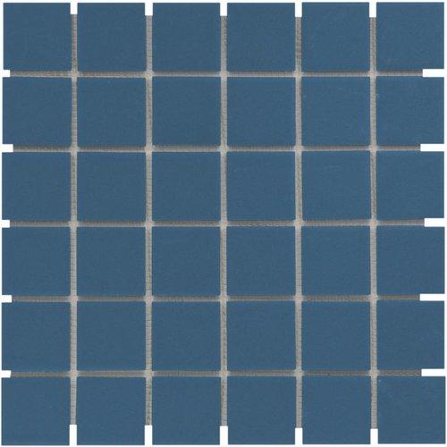 Mozaïektegel The Mosaic Factory London Vierkant 48x48 mm Blauw