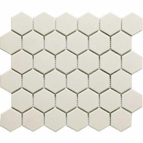 Mozaïektegel The Mosaic Factory London Hexagon 51x59 mm Wit