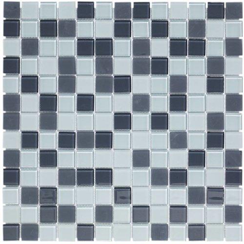 Mozaïektegel The Mosaic Factory Montreal Vierkant 23x23 mm Grijs Mix