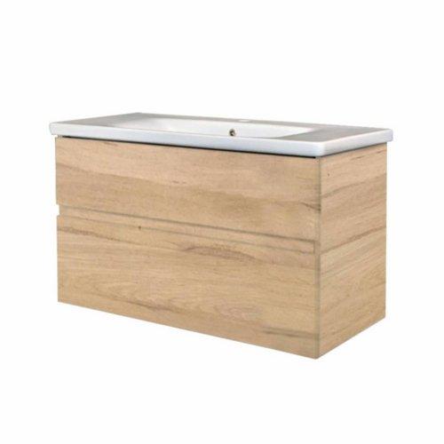 Badkamermeubel Best Design Quick-Greeploos 100x56x44cm Onderkast + Wastafel Grenen