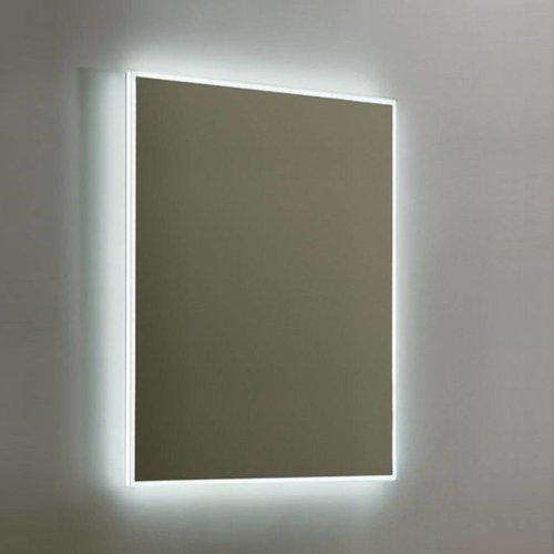 Spiegel Sanilux Mirror Infinity Aluminium met LED Verlichting en Schakelaar (alle maten)