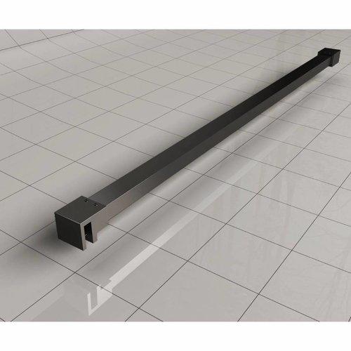 Wiesbaden Slim profielset+stabilisatiestang 120cm matzwart