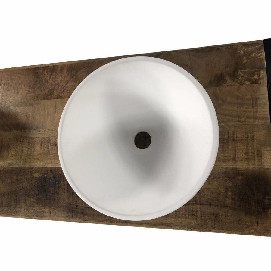 Badkamermeubel Mango Wood 135x45x81cm Met Solid Surface Waskommen