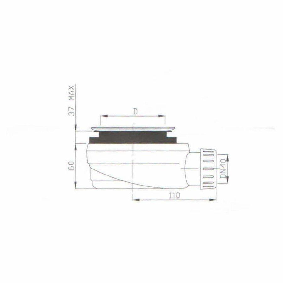 Douchebak Composiet Betonlook Concrete (In meerdere maten en kleuren beschikbaar)