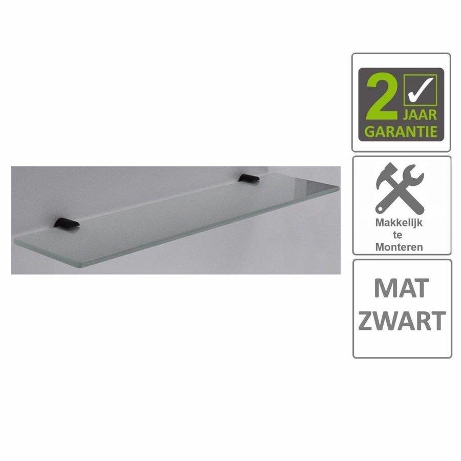 AQS Planchet Mia Glas Bevestigingspunten Mat Zwart