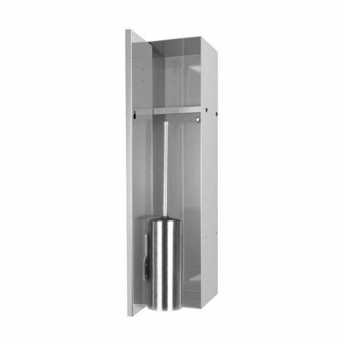 LoooX Closed Inbouw Toiletborstel Garnituur Betegelbaar 14.5x61x14 cm RVS CL8