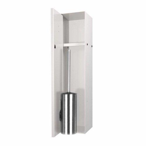 LoooX Closed Inbouw Toiletborstel Garnituur Betegelbaar 14.5x61x14 cm Creme CL8
