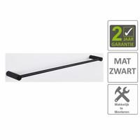 AQS Handdoekrek Mia Enkel 60cm Mat Zwart