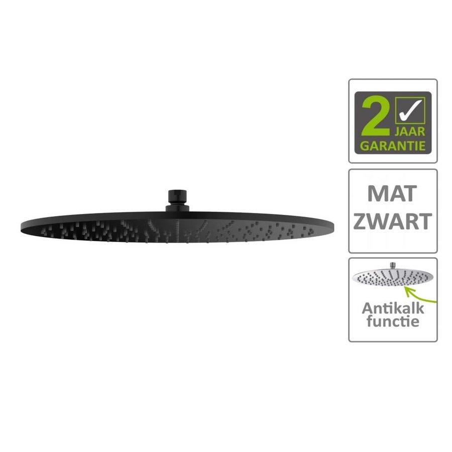 AQS Hoofddouche Luxe Rond 40x40 cm Mat Zwart