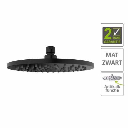 AQS Hoofddouche Luxe Rond 20x20 cm Mat Zwart