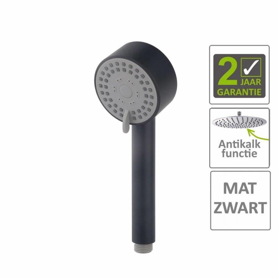 AQS Handdouche Codos Verstelbaar 23.3x8.1 cm Mat Zwart