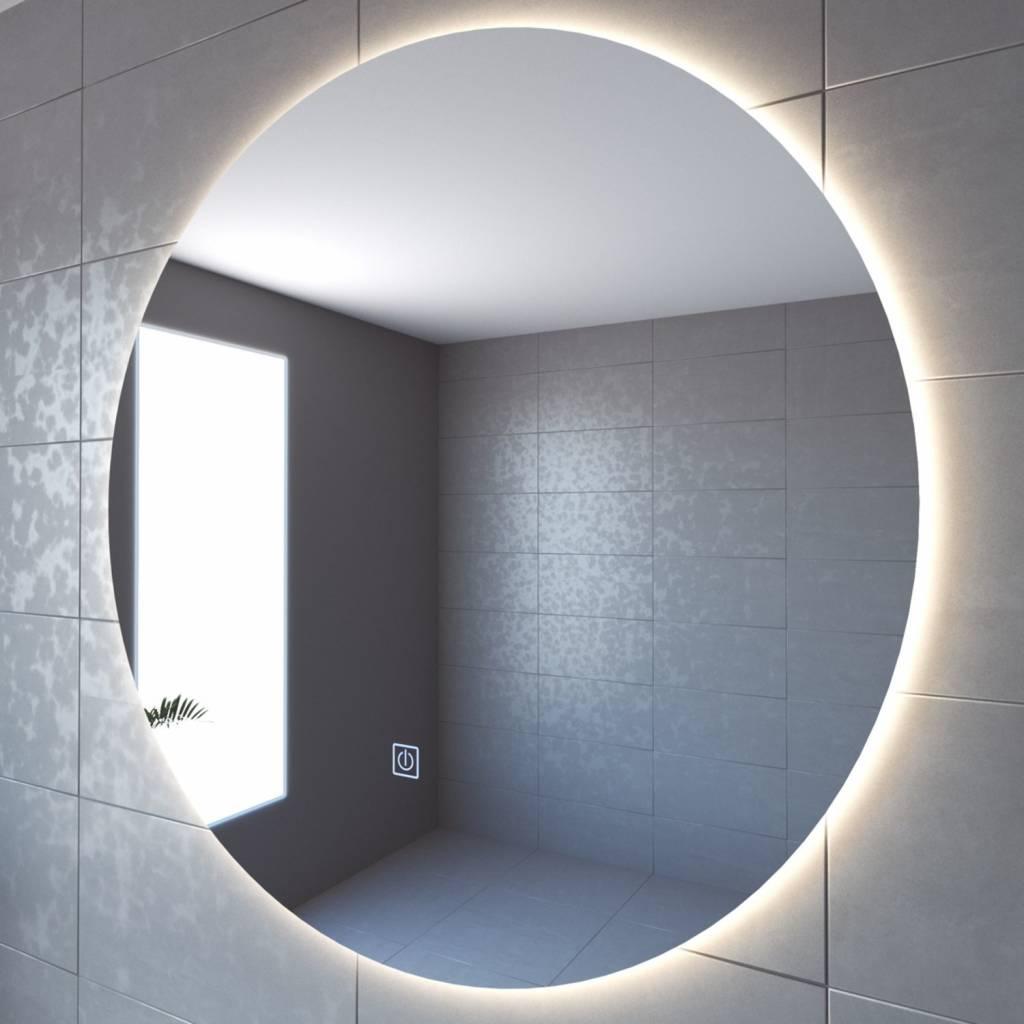 Populair Badkamerspiegel Boss & Wessing Rond 120 cm LED Verlichting Warm EN44