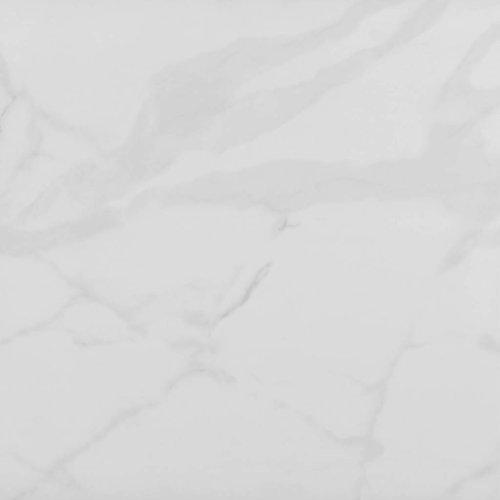 Vloertegel Reno Hoogglans Marmerlook Carrara 60.8x60.8 cm Prijs P/m2