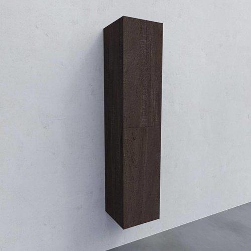 Kolomkast AQS Warschau 160x35x35cm MDF Omkeerbaar Wood Dark Brown