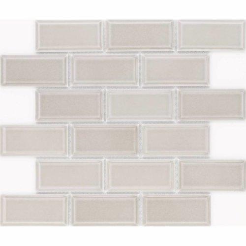 Vloer Mozaiek Jos Strucco Plaster Brick 29x34 cm Gris Mat (doosinhoud 0.98 m2)
