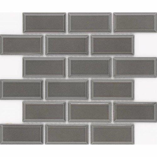 Vloer Mozaiek Jos Strucco Plaster Brick 29x34 cm Grafito Mat (doosinhoud 0.98 m2)